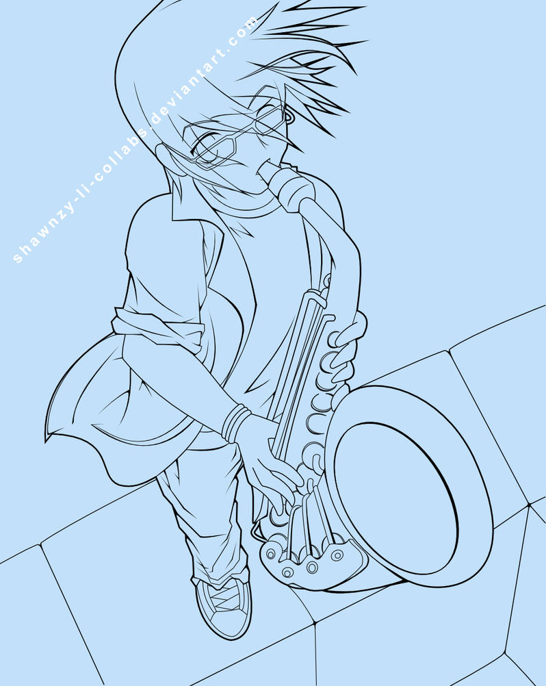 Sax Hamming - Lineart by Shawnzy-Li-Collabs