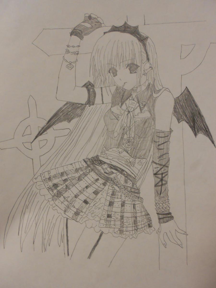 RANDOM (anime)~Drawings~4~[Emo Girl??!!]~ By RainnySky On DeviantArt