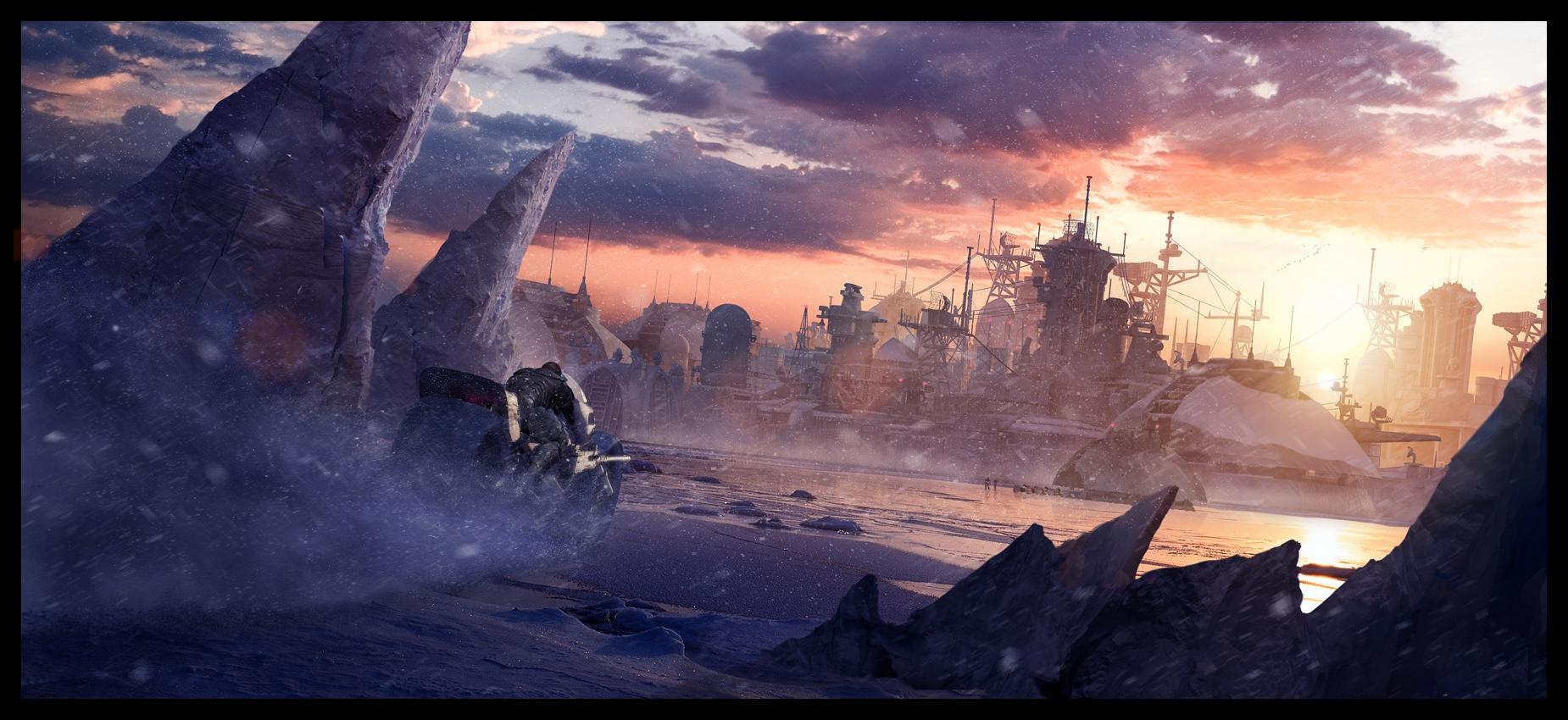 Arctic base by glazyrin