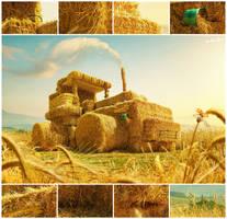 Hay-tractor