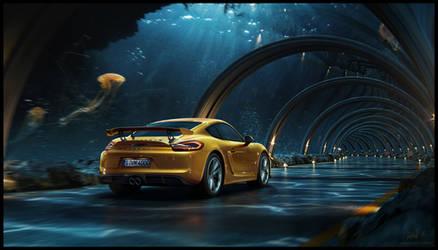 Porsche - Underwater road + making of by glazyrin