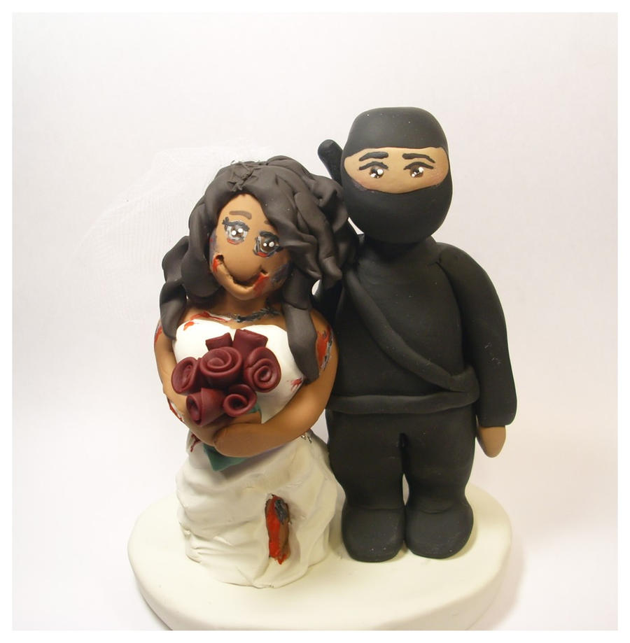 Permalink to Zombie Wedding Cake Topper Buy