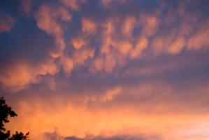sunset clouds light