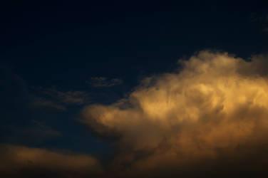 big orange cloud storm sky stock