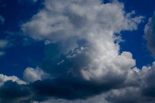 big cloud blue sky stock background