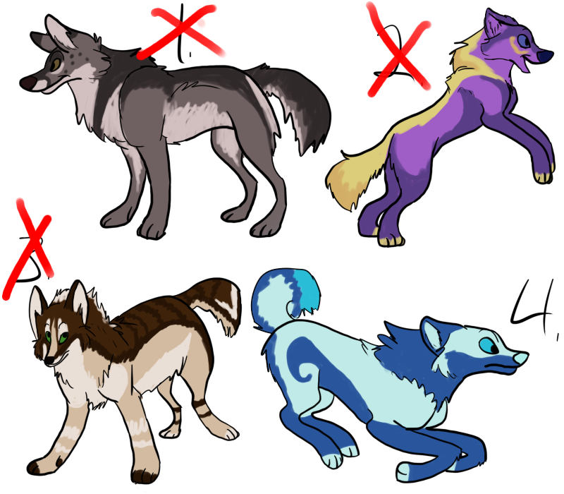 Wolf adoptables by SanjanaStone