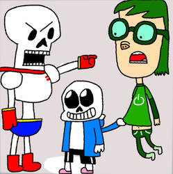 Noam (Rated A For Awesome) Meets Sans And Papyrus by BunearyBross