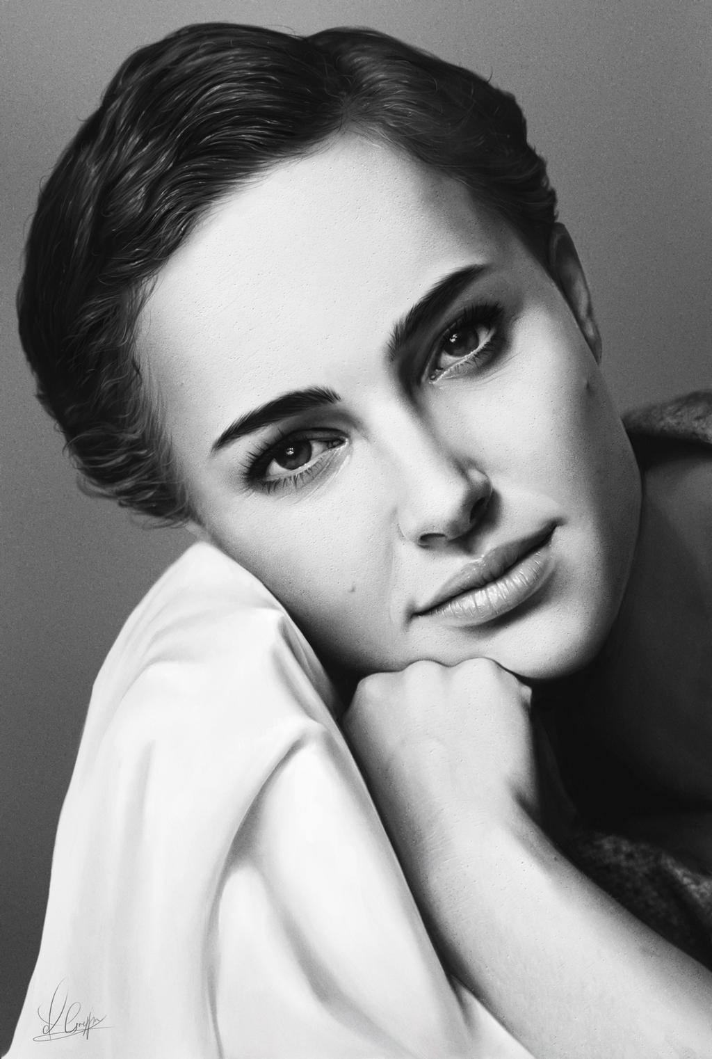 Natalie Portman by AaronGriffinArt