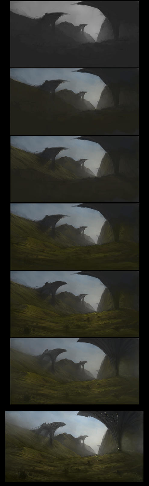 Landscape Speedpainting Process by AaronGriffinArt