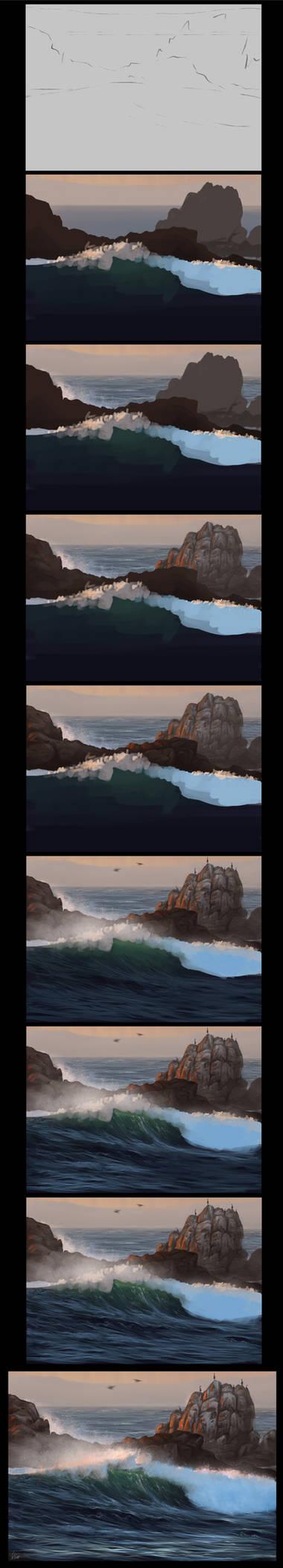 Ocean Speedpainting Process