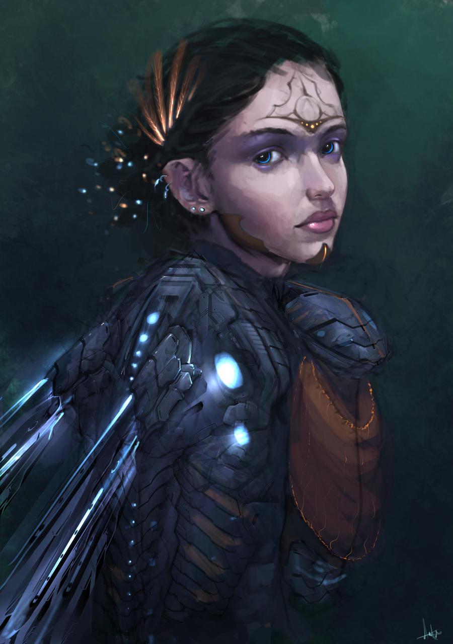 Galeria de Arte: Ficção & Fantasia 1 - Página 6 Cyber_fairy_____concept__by_aarongriffinart-d5sh85p