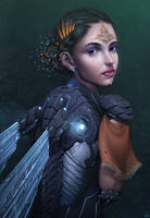 Cyber Fairy by AaronGriffinArt