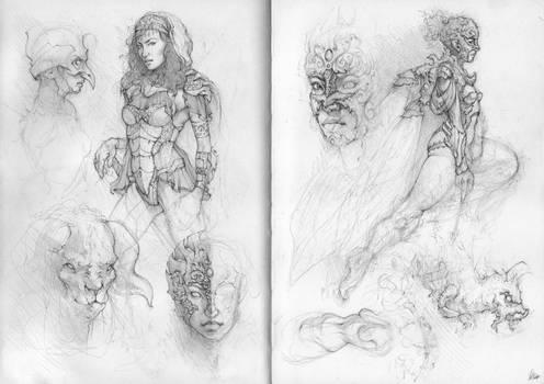 Sketchbook Pages 2 + 3