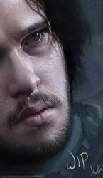 Jon Snow - Game of Thrones WIP by AaronGriffinArt