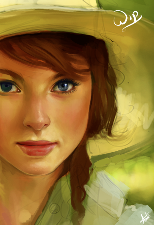 Rosie Portait WIP by AaronGriffinArt