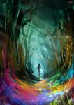 30 Minute Spitpaint ''Rainbow Forest''