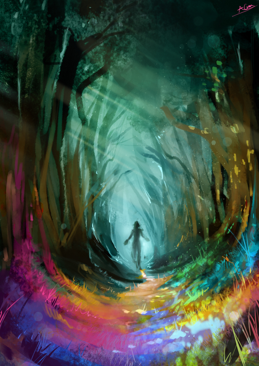 [Friend Safari Fairy] Valentain - Página 4 Rainbow_forest_by_aarongriffinart-d75boyq