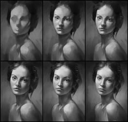 Portrait Practice Process by AaronGriffinArt