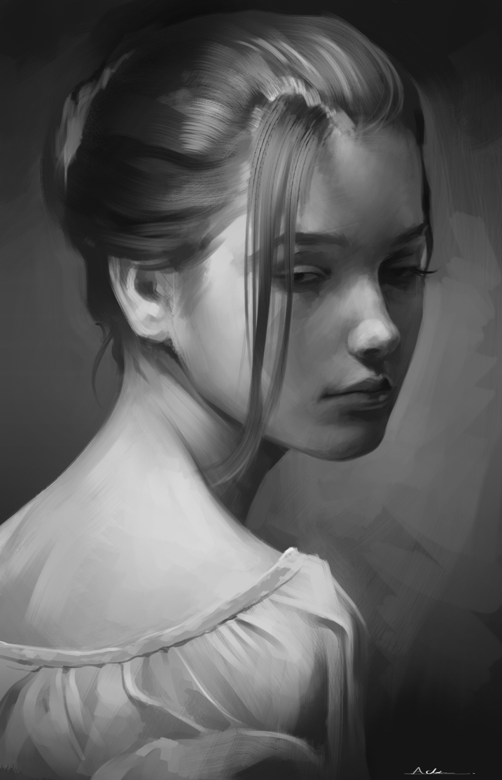 Grayscale To Color Digital Painting