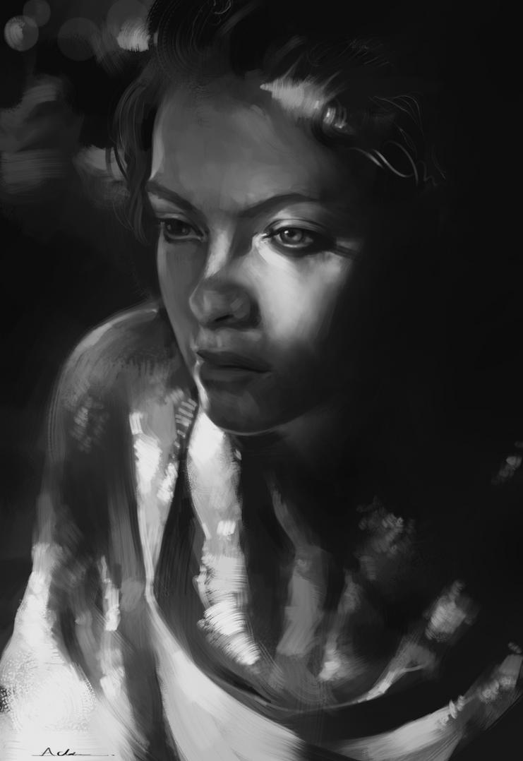 Portrait Practice 6 by AaronGriffinArt