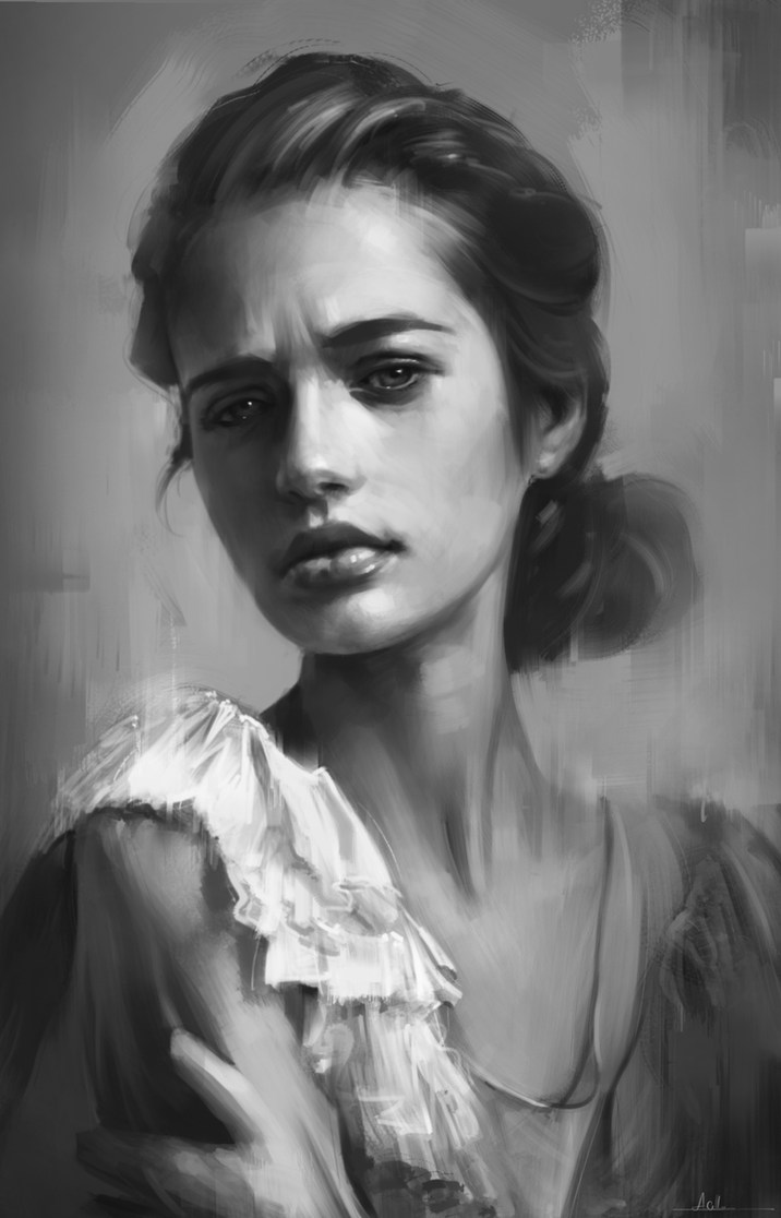 Portrait Practice 9 by AaronGriffinArt