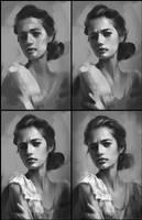 Portrait Practice 9 Process by AaronGriffinArt