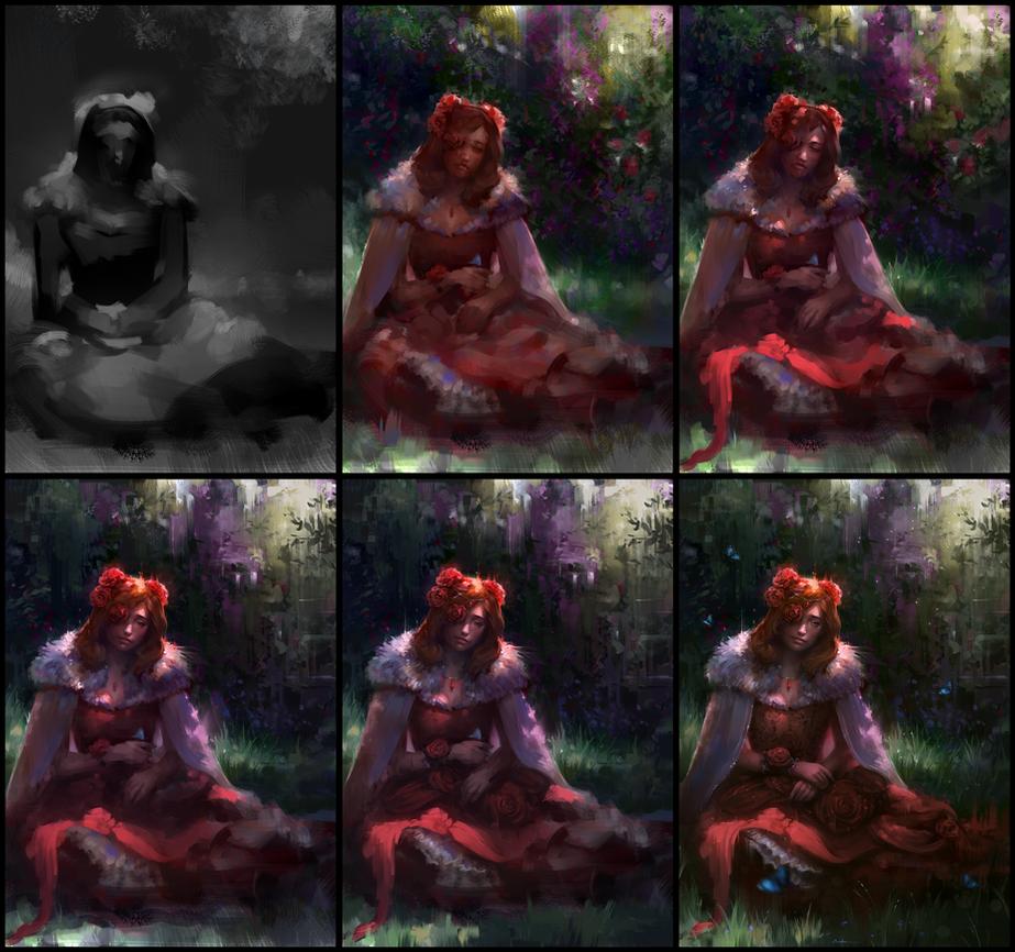 Flowers - Kiriban Process by AaronGriffinArt