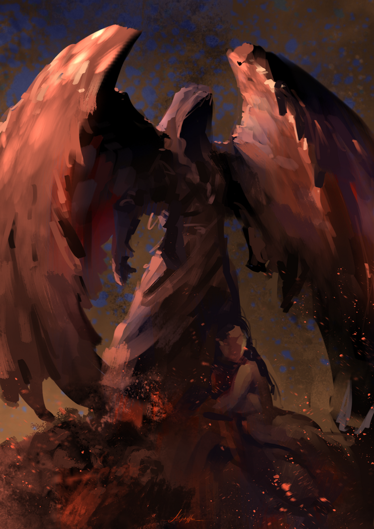 Undead Angel - Spitpaint by AaronGriffinArt