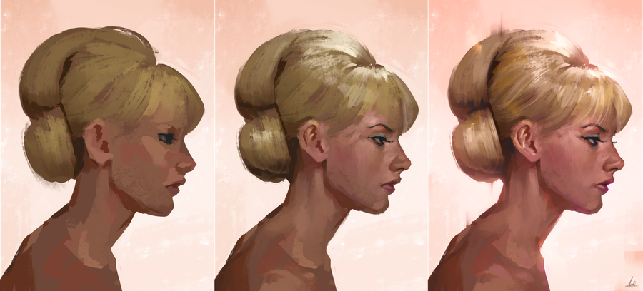 Profile Study Process by AaronGriffinArt