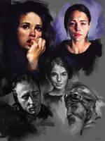 Face Studies 2 by AaronGriffinArt