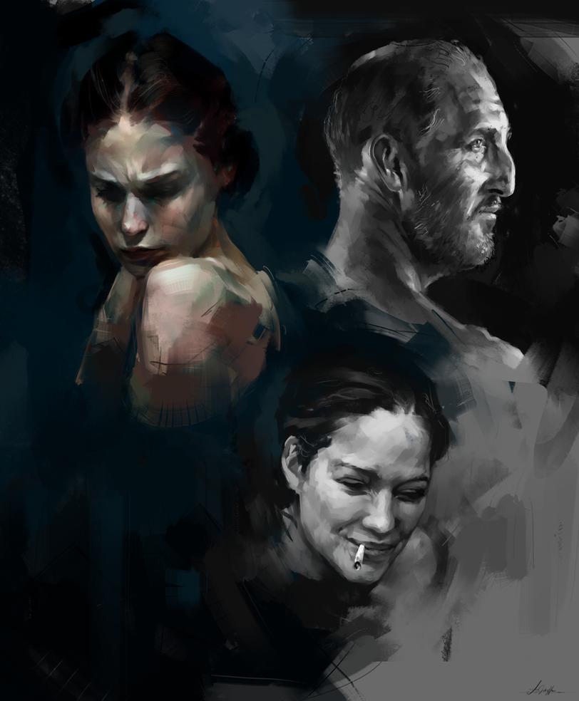 Face Studies 3 by AaronGriffinArt