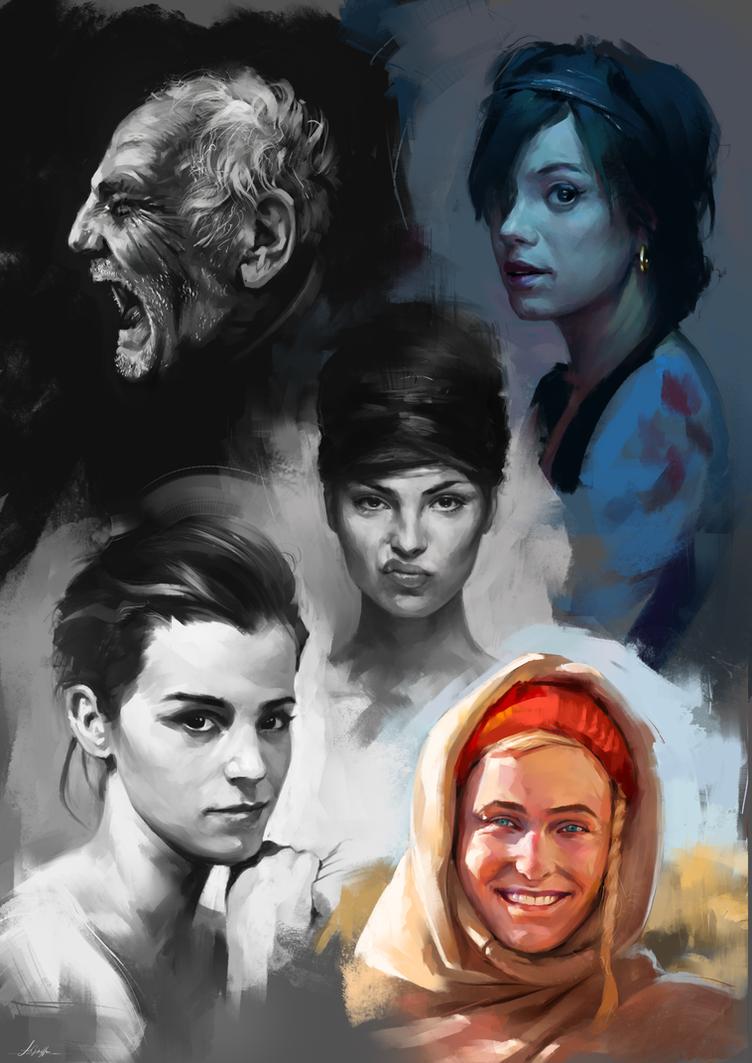 Face Studies 4 by AaronGriffinArt