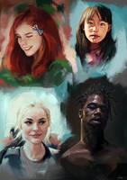 Face Studies 6 by AaronGriffinArt
