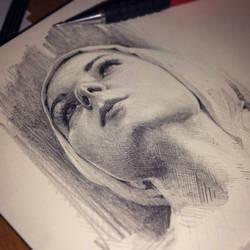 Head study by AaronGriffinArt