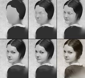 Portrait 12 Process by AaronGriffinArt