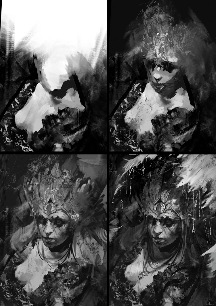lunchtime sketching Process by AaronGriffinArt
