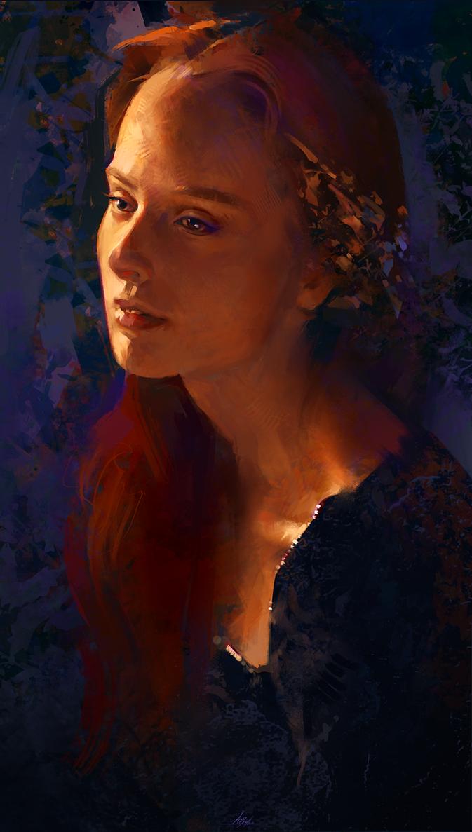 Evening Portrait by AaronGriffinArt
