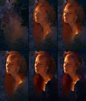 Evening Portrait Process by AaronGriffinArt
