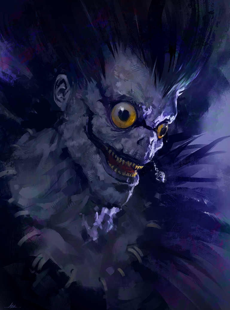Ryuk by aarongriffinart on deviantart for The griffin