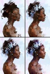 Portrait 13 Process by AaronGriffinArt