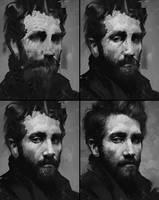 Jake Gyllenhaal Process by AaronGriffinArt