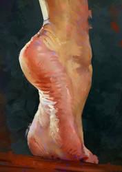 Foot Study by AaronGriffinArt