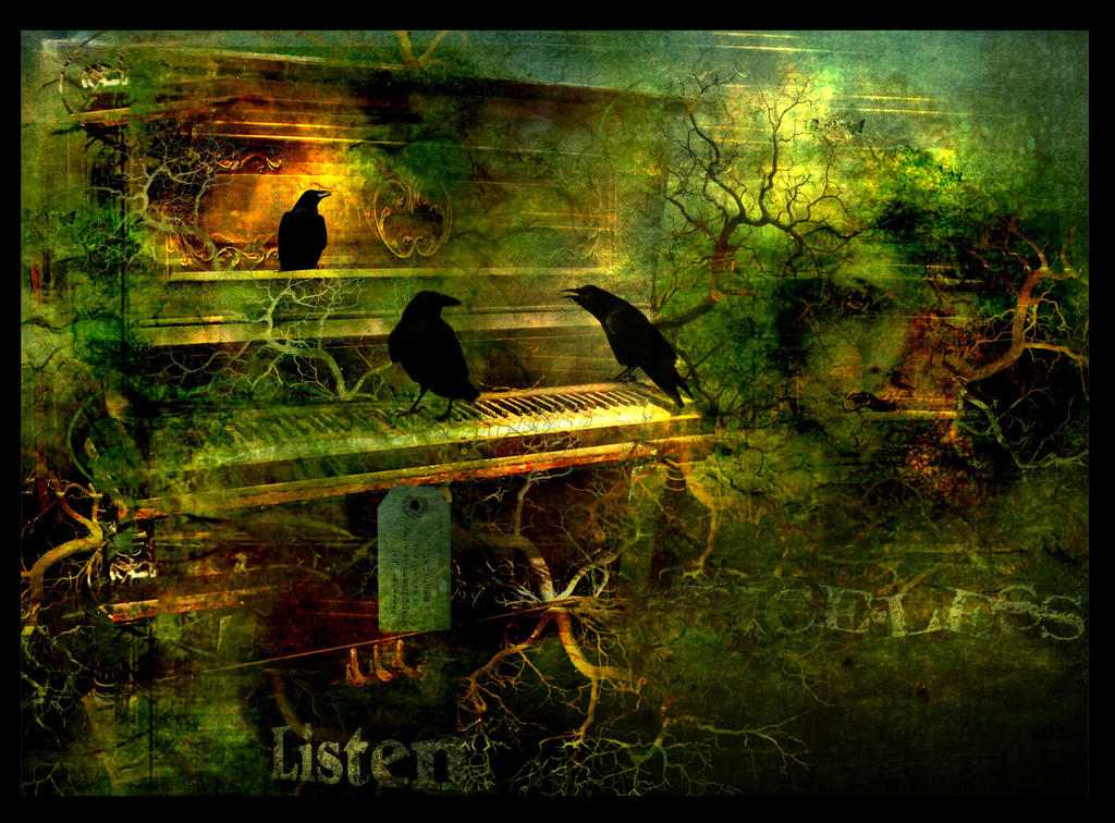 Crows on the Piano by rustymermaid