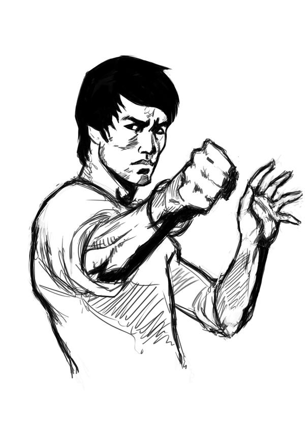 bruce lee coloring pages - photo#27