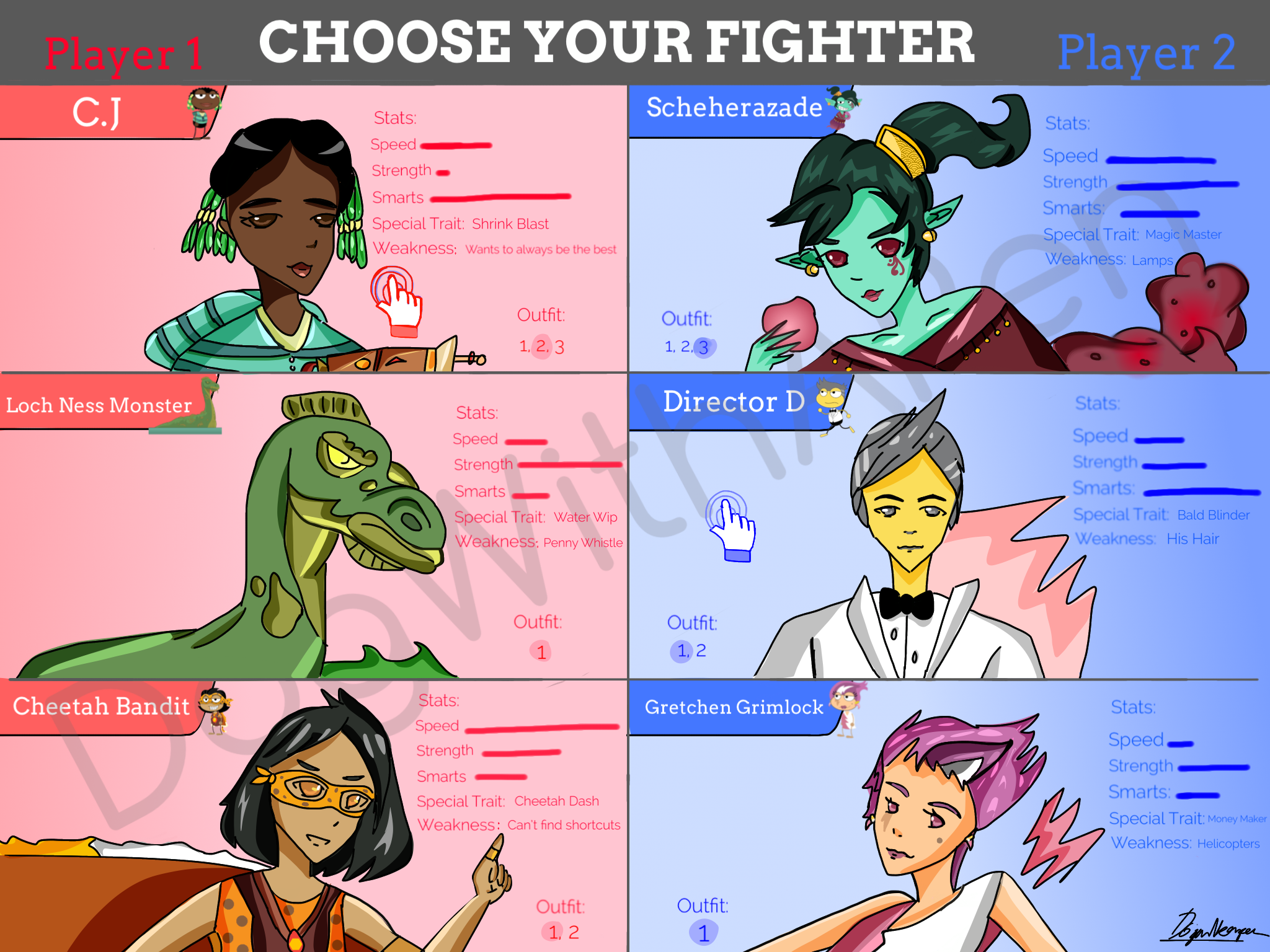 Poptropica Choose Your Fighter!