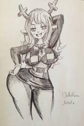 DeltaRune - Noelle Sexy Pose by pikapika212