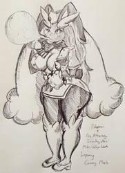 Pokemon X Ace Attorney - Lopunny Cammy Meele