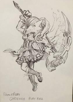 Pokemon X RWBY - Ruby Rose Gardevoir