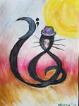 clef cat in a trilby.