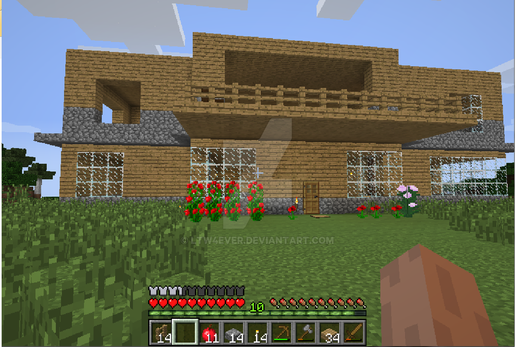 La Casa De Laura The Wolf Tipo Minecraft XD By LTW4EVER On